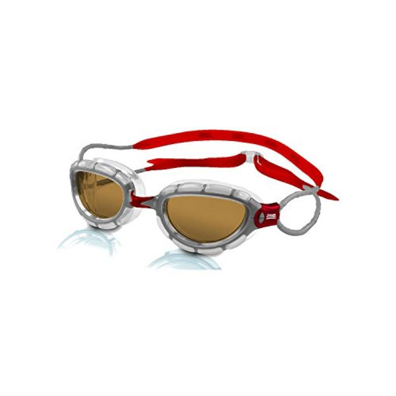 ZOGGS Zoogs Swim Predator Polarized S M, Clear-Red Copper