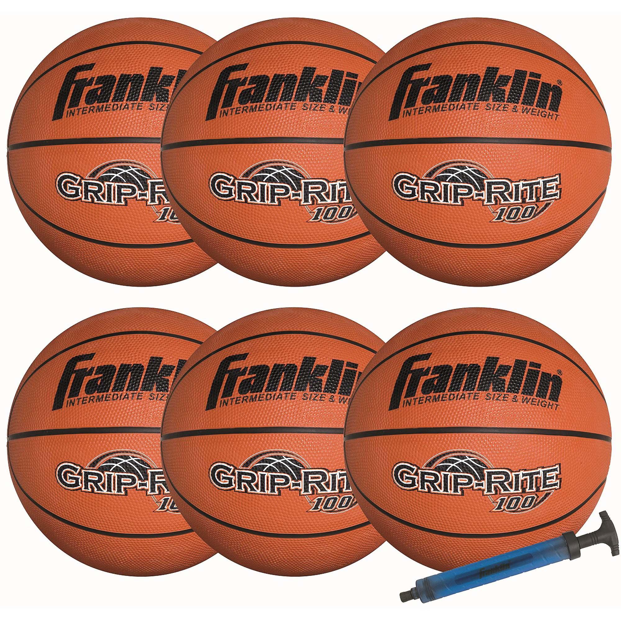 Franklin Sports Official Size Grip-Rite 100 Team Basketball Pack/Pump