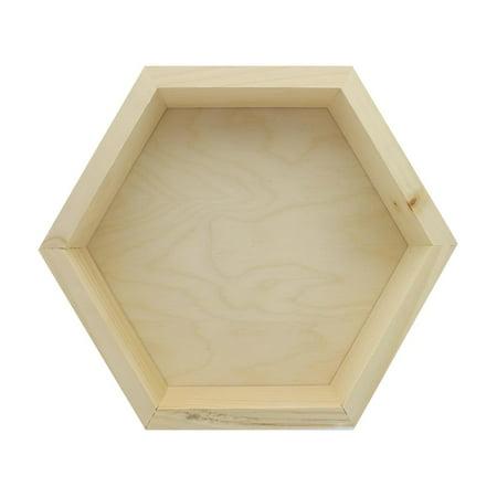 Walnut Hollow Wall Decor Pine/Birch Hexagon