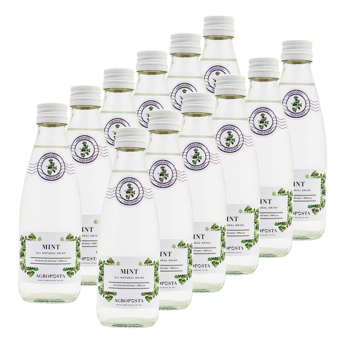 Image of AgropoÅ!ta: 100% Pure, All-Natural, Guilt-Free Drinks, Flavored Water, Mint