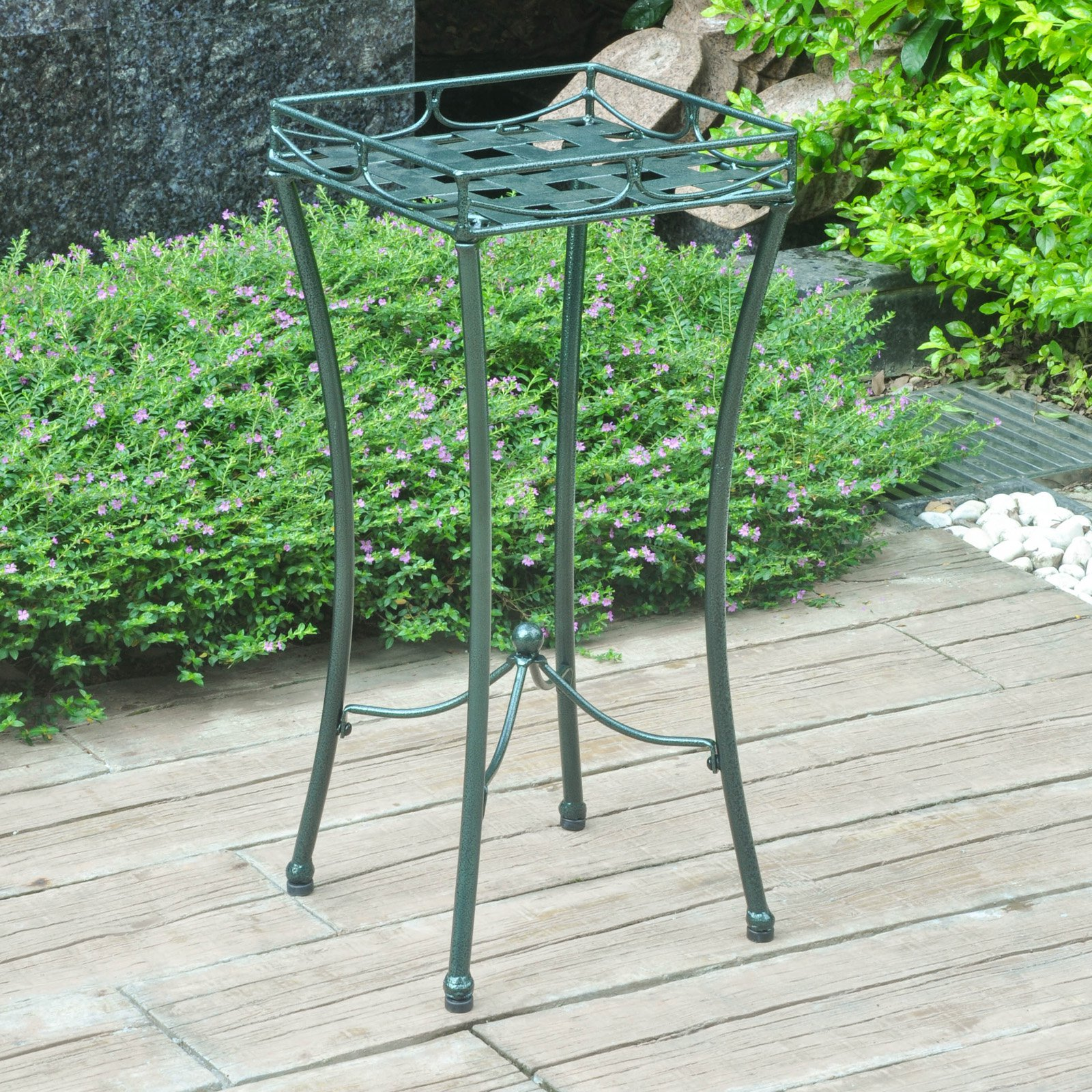 International Caravan Santa Fe Iron Square Outdoor Planter
