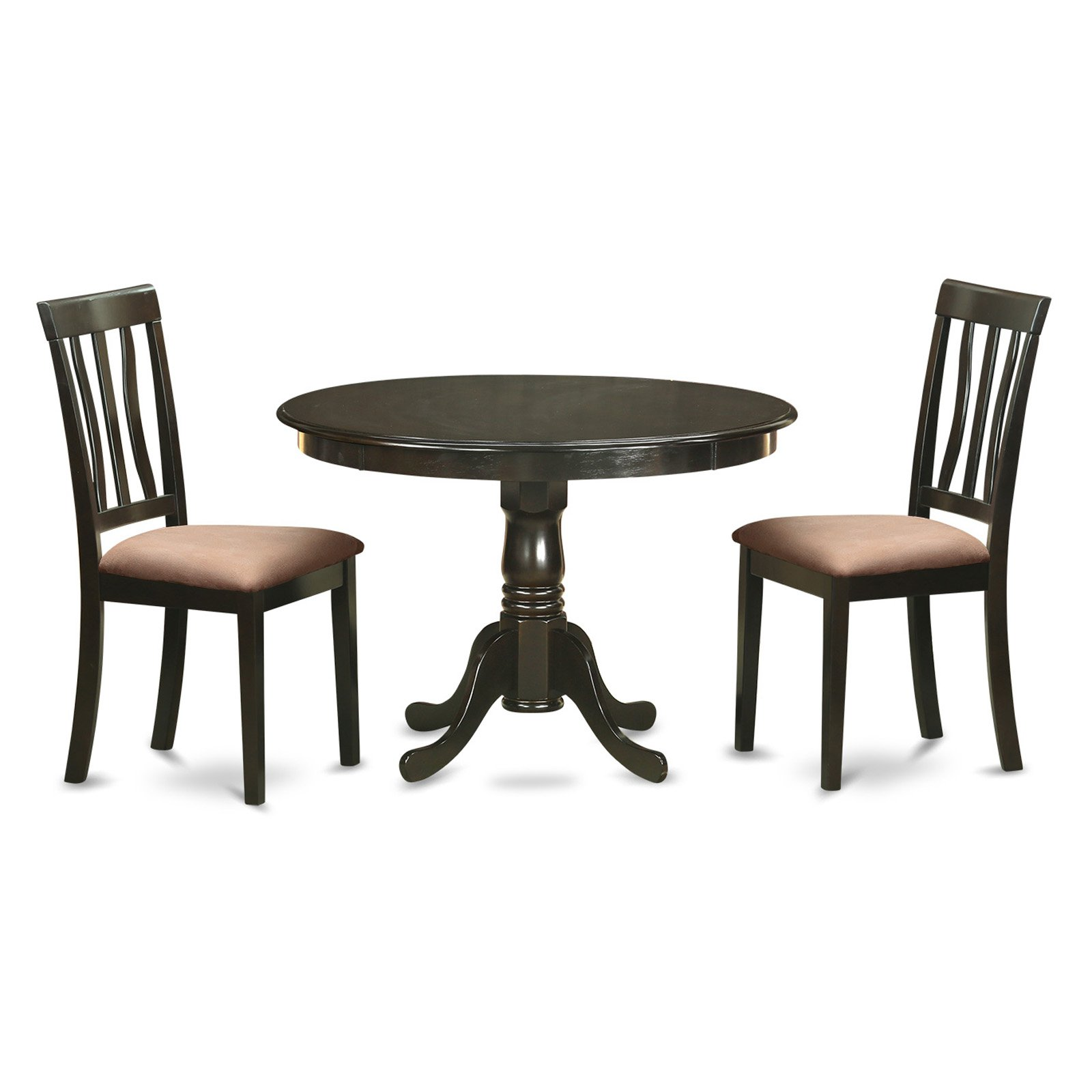 East West Furniture Hartland 3 Piece Splat Back Dining Table Set