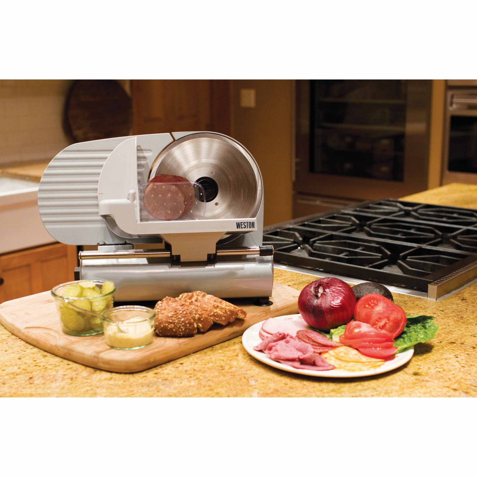 "Weston 9"" Meat and Vegetable Slicer, Stainless Steel"