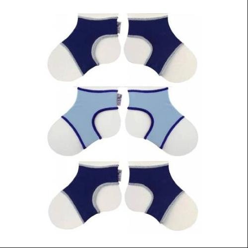 Sock Ons Classic (0-6 Months), Navy, Navy & Baby Blue, 3 Pack