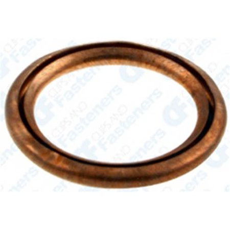- 10 Oil Drain Plug Crushable Gaskets 14mm I.D. Copper