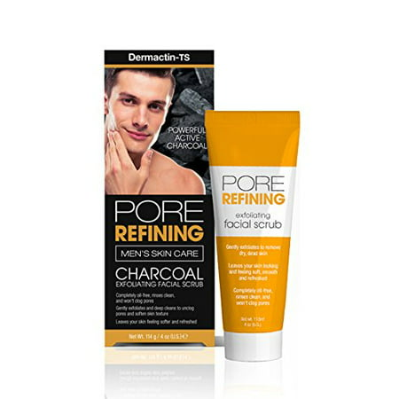 Dermactin-TS Men's Pore Refining Facial Scrub 4 oz. - Gently Exfoliates & Deeply Cleans Skin, Unclog Pores, Softens Skin Texture, Leaves Skin Softer, Oil Free & Refreshed