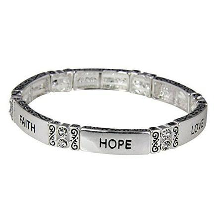 Faith Hope Love Stretch Bracelet 1st Corinthians Christian Scripture ...