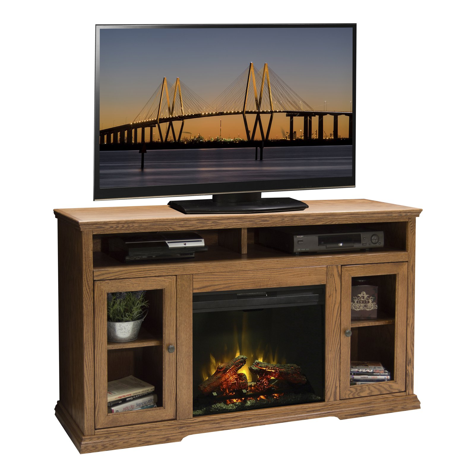 Legends Furniture Colonial Place 50 in. Electric Media Fireplace