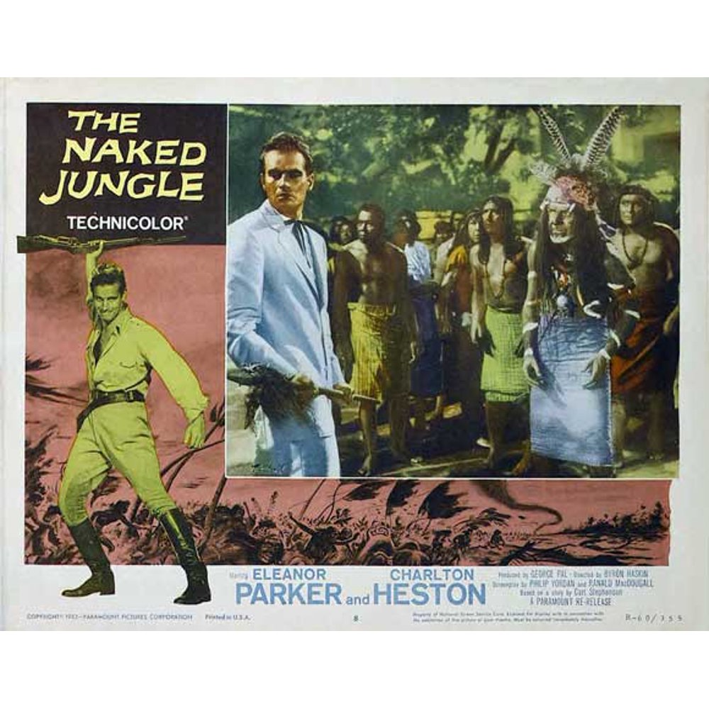 FURIA BIANCA MOVIE POSTER - THE NAKED JUNGLE MOVIE POSTER