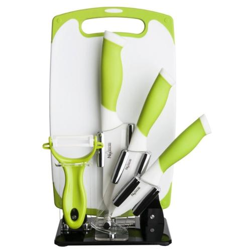 FNT New England Cutlery 6 Piece Ceramic Knife Set, Green by Overstock