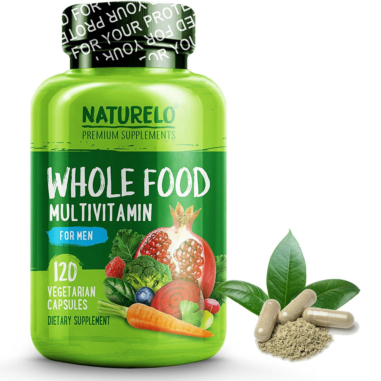 Whole Food Multivitamin for Men - Vegan/Vegetarian - 120 Capsules