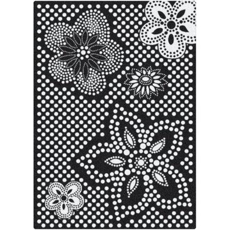 milliken eyelet mod black white area rug. Black Bedroom Furniture Sets. Home Design Ideas