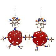 Creative Alternatives Dancing Girl Lucky Dice Earrings