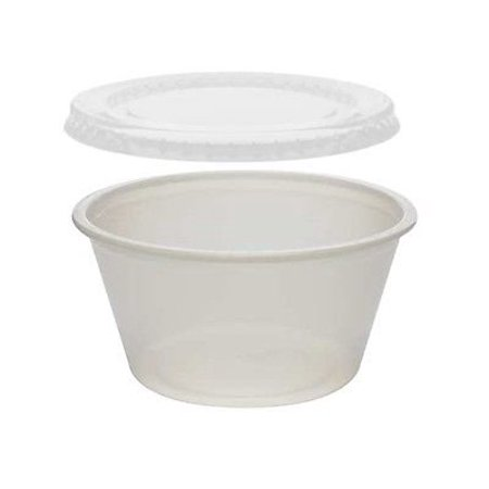 4 oz Portion / Soufflà C with Lids 50 Sets - Plastic 4 Ounce Containers (pack of 50) ()