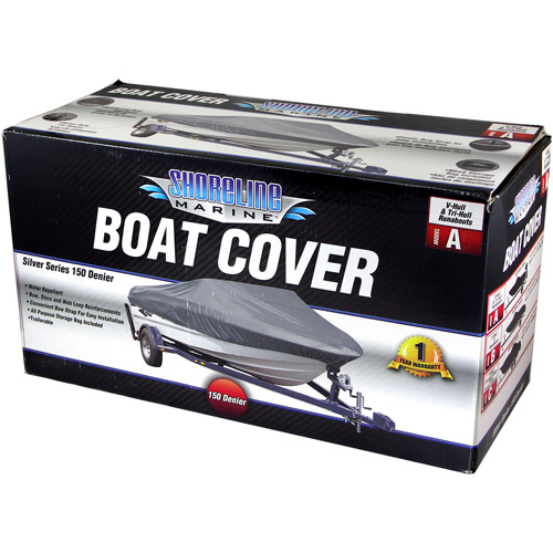 Shoreline Marine Deluxe Boat Cover, Gray