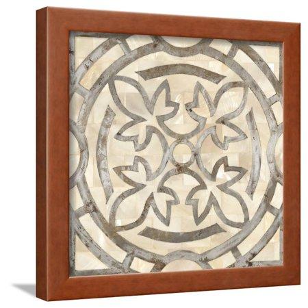 Natural Moroccan Tile 3 Framed Print Wall Art By Hope Smith - Hope Framed Tile