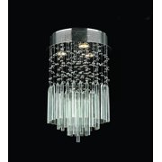 "Worldwide Lighting W33260C12-CL Chrome Torrent 3 Light 12"" Flush Mount Ceiling Fixture In"