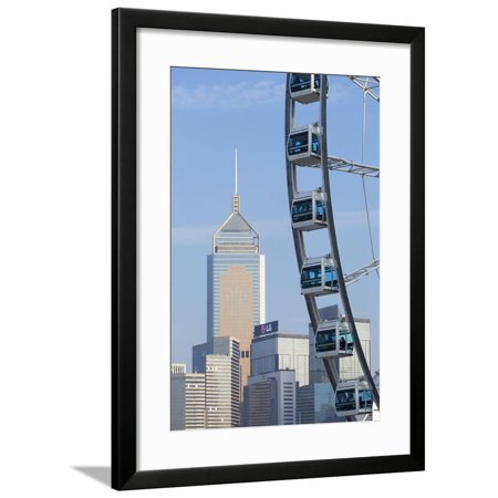 Ferris Wheel and Wan Chai Skyline, Hong Kong Island, Hong Kong, China, Asia Framed Print Wall Art By Ian Trower](Ferris Wheel Centerpiece)