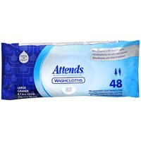 Attends Pre-Moistened Adult Washcloths, 48 wipes, 1 Pack