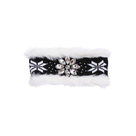 Faux Fur Headband - Womens Winter Faux Fur Flower Headband