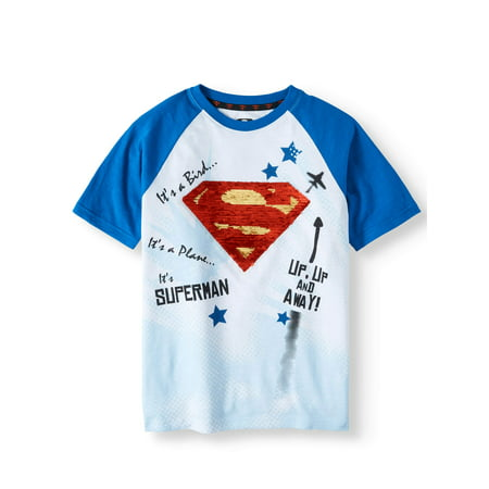 Logo Short Sleeve Raglan Tee (Little Boys & Big Boys)](Hot Girl In Superman Shirt)