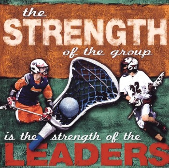 Stregenth- Lacrosse Poster Print by Robert Downs (20 x 20)