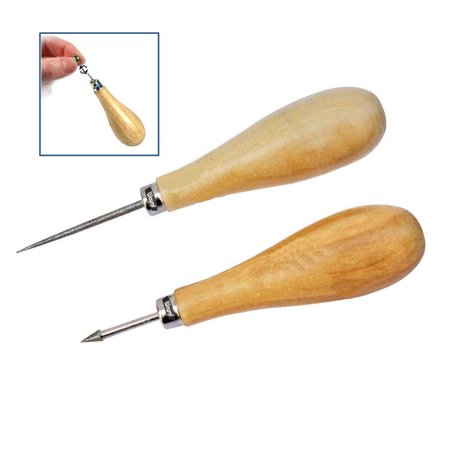 - Diamond Bead Reamers Set 2pcs Pointed & Cone Tip On Handles Beadworking Tools