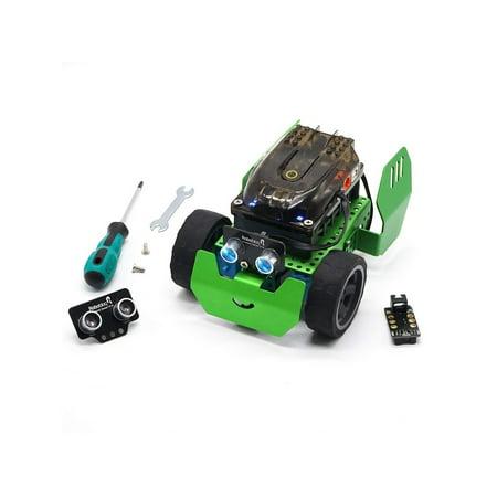 Robobloq Metal Blocks - Robot Building Kit Line Follower, Robotics for Kids Age 6+, Q-Scout STEM Toy  - 65 Piece - 10110