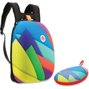 ZITZSHLCTSPR, Colorful Triangles Shell Backpack Set, 1, Assorted Bright