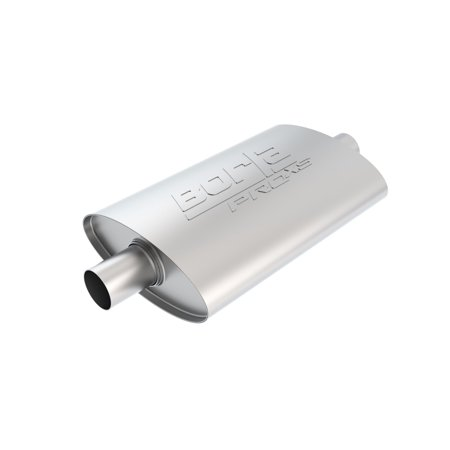 Borla 40347 Borla Pro Xs Muffler  Center Center Oval  2 In  Inlet  2 In  Outlet  14 In  X 4 In  X 9 5 In  Case Size  19 In  Overall Length  Unnotched  T 304 Stainless Steel