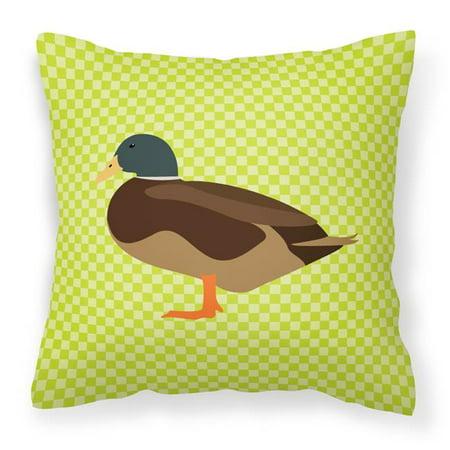 Carolines Treasures BB7693PW1818 Silver Bantam Duck Green Fabric Decorative Pillow, 18 x 18 in. - image 1 of 1