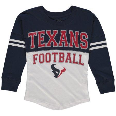 69a737ae Houston Texans 5th & Ocean by New Era Girls Youth Varsity Long ...