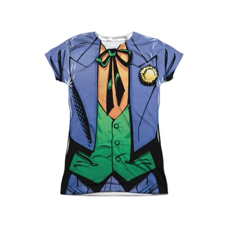 Batman DC Comics Superhero Joker Costume Junior 2-Sided Print T-Shirt Tee](Superhero T Shirt Costume)