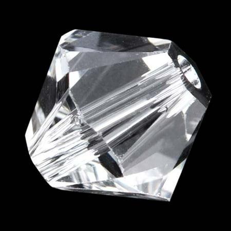 Swarovski Crystal, #5328 Bicone Beads 4mm, 24 Pieces, (Swarovski Crystals Glue)