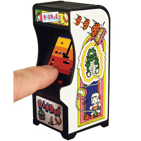 (Set) Dig Dug Miniature Arcade Video Game w/ Batteries Plays Like Original (Miniature Video)