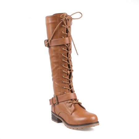Mark and Maddux Travis Lace-up Women's Combat Boots