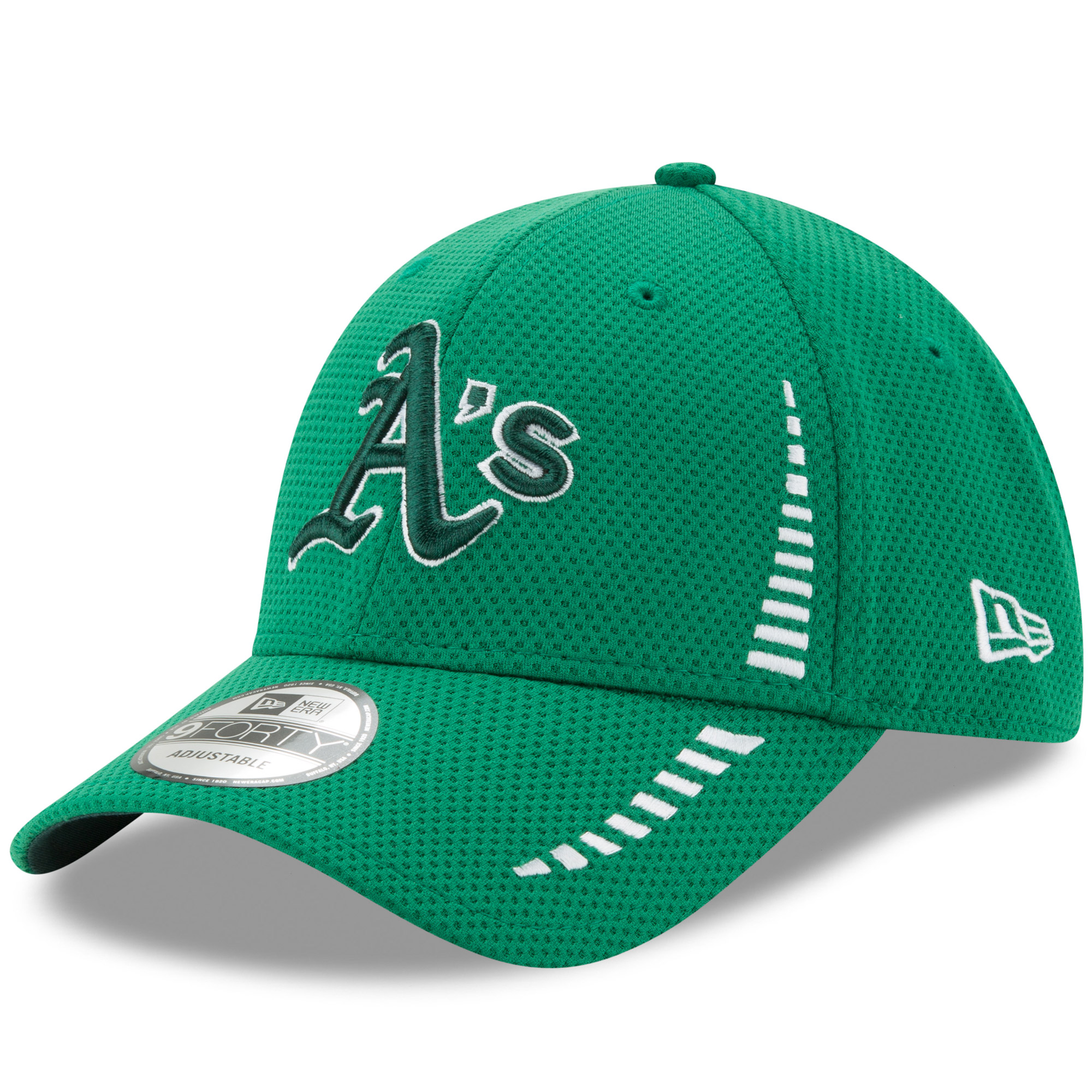 Oakland Athletics New Era Speed St. Patrick's Day 9FORTY Adjustable Hat - Kelly Green - OSFA