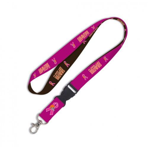 Cleveland Browns BCA Pink Ribbon Detachable Lanyard