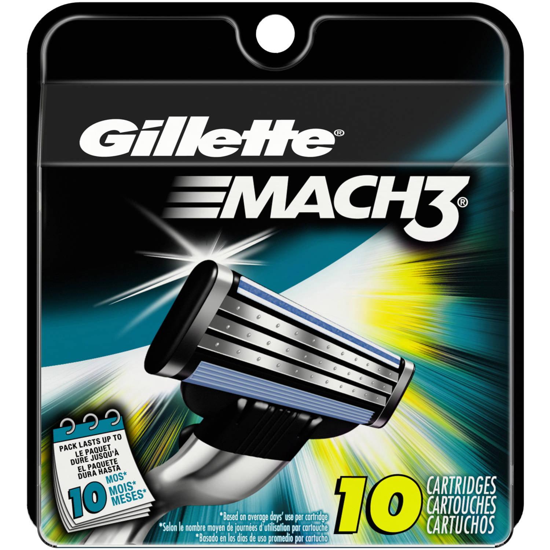 Gillette MACH3 Men's Razor Blade Refills, 10 count