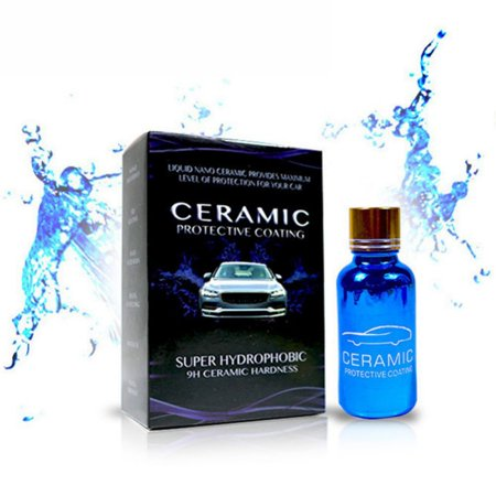 30ML Ceramic Coating - Car Wax Polish Spray - Waterless Car Wash & Wax -9H Hydrophobic Top Coat Polish & Polymer Paint Sealant Detail Protection