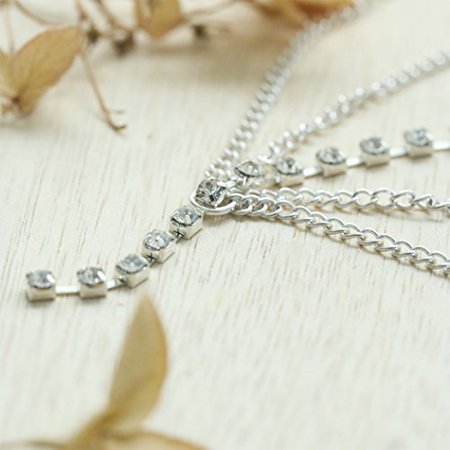 Simsly Gold Head Chain Jewelry with Rhinestone Headpiece for Women and Girls FV-054 (Silver) - image 2 of 4
