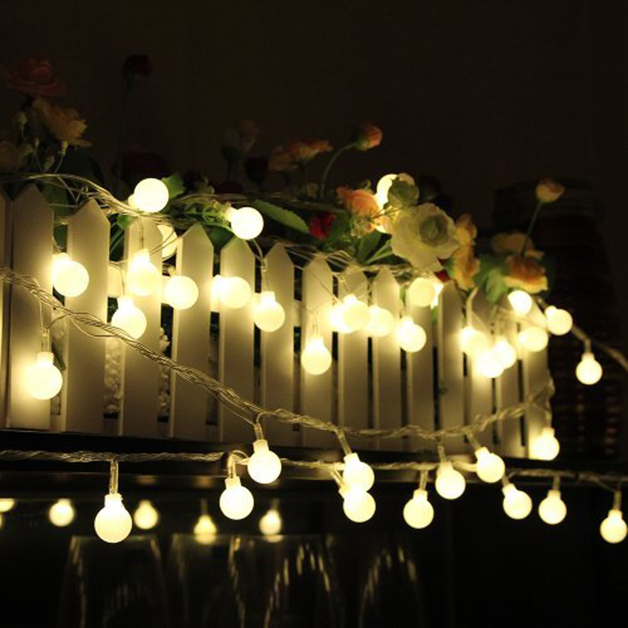 100 Led 32.8ft Globe String Lights LED Ball Fairy Lights for ...