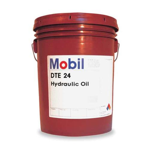 MOBIL Mobil DTE 24, Hydraulic, ISO 32, 5 gal., 105466