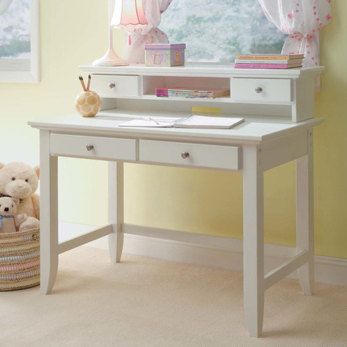 Home Styles Naples Student Desk And Hutch Set In White