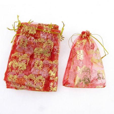 Wedding Gift Bags Walmart : ... 10 Pcs Chinese Dual Happiness Wedding Organza Gift Bag - Walmart.com