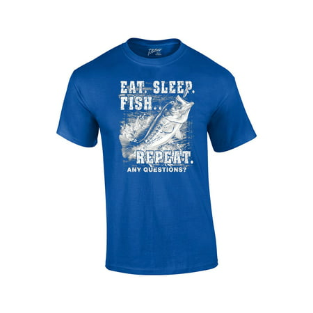 Fishing t shirt eat sleep fish repeat for Walmart fishing shirts