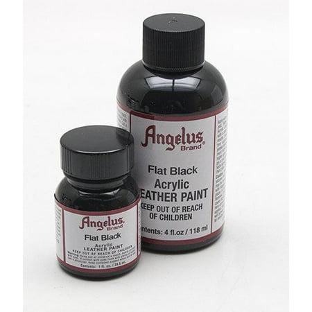 Angelus Leather Paint 4 Oz Black Black Angus Leather Top