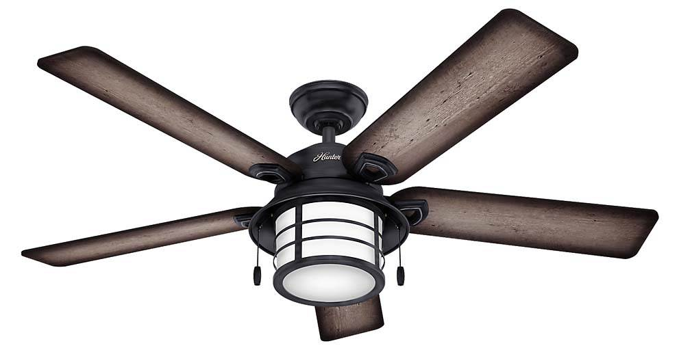 """Hunter Fan Company 59135 Key Biscayne 54"""" Ceiling Fan with 5 Burnished Grey Pine Gray... by Hunter"""