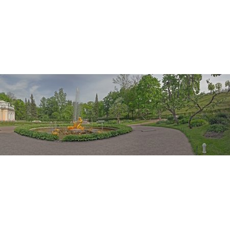 Fountain outside a palace Peterhof Grand Palace St Petersburg Russia Canvas Art - Panoramic Images (36 x 12)