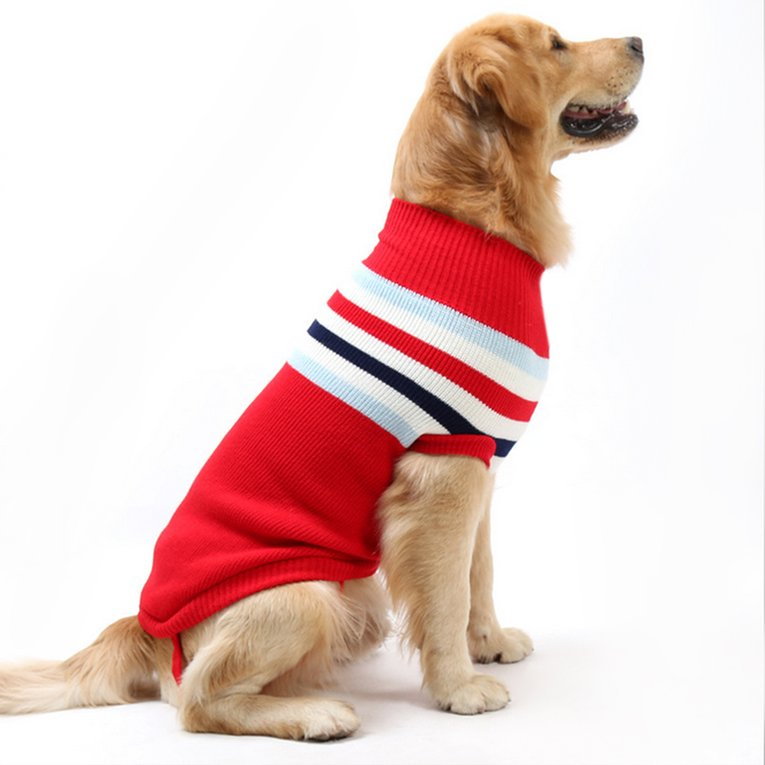 Green English Style Striped Shirt Top T-Shirt Dogs Cotton Autumn And Winter Clothes